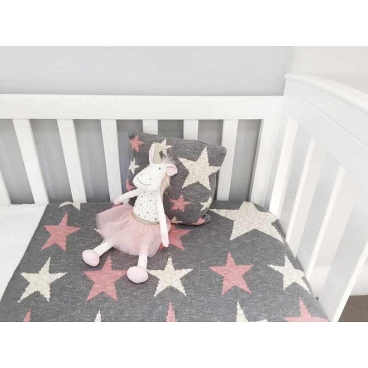 Pink Star Baby Blanket