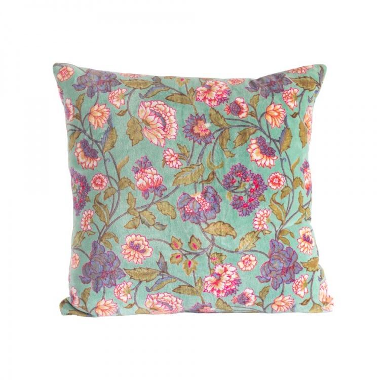 Aqua Lily Cushion