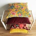 Gold Lily Velvet Cushion