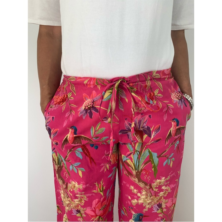 Hot Pink Paradise Lounge Pants with pockets