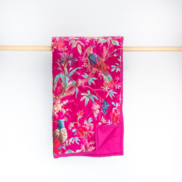 Hot Pink Paradise Throw