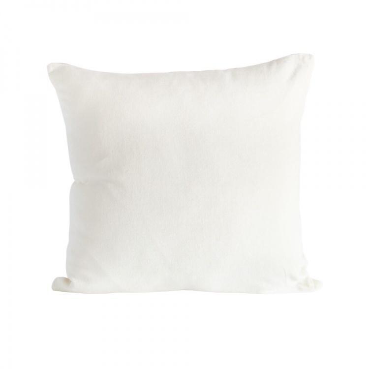 Off-white velvet/linen Cushion