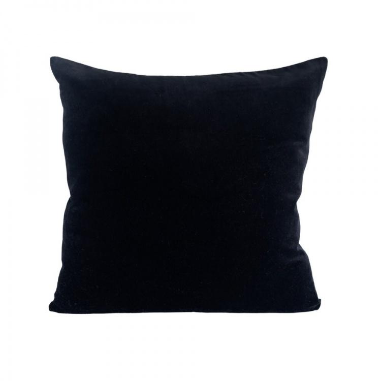Black velvet/linen Cushion