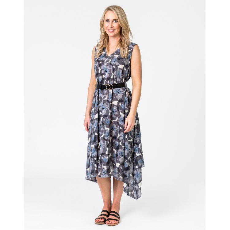 Charcoal Poppy Dress