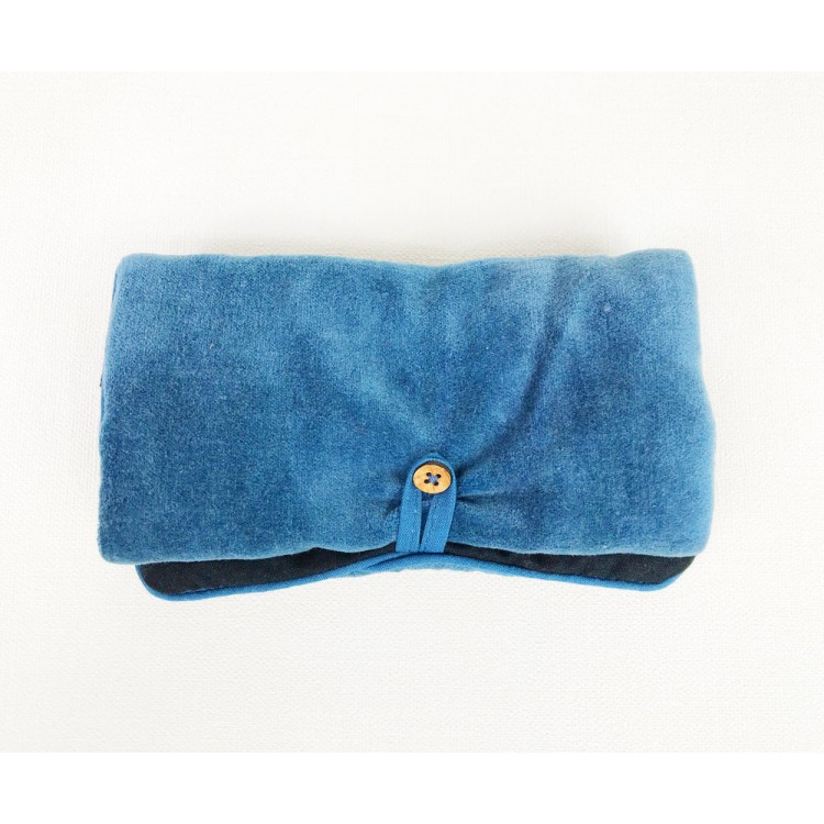 Blue Velvet Jewellery Bag