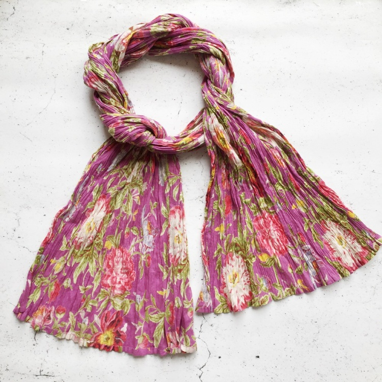 Lilac Floral scarf