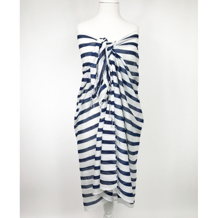 Navy Striped Sarong