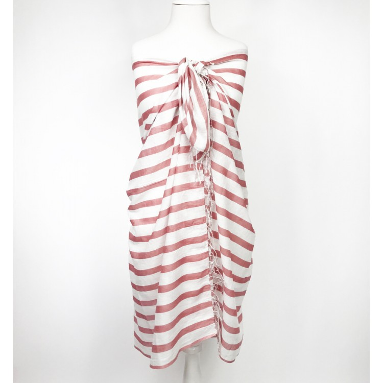 Hazelnut Striped Sarong
