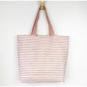 Hazelnut Striped Tote Bag