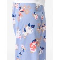 Blue Vintage Floral Lounge Pants