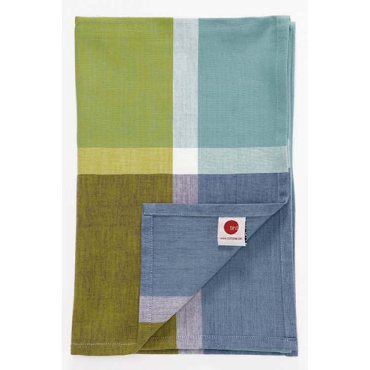 Checks Lime Table Runner