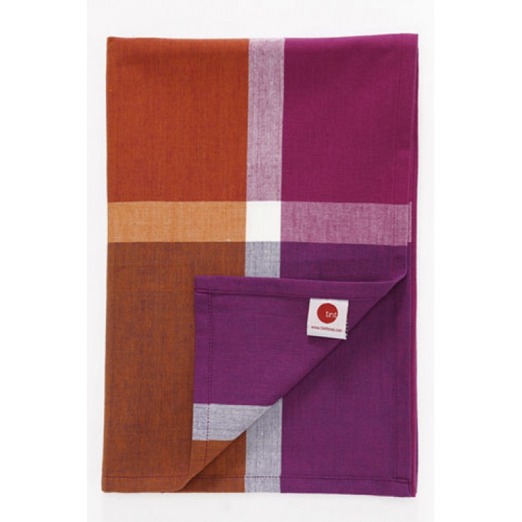 Checks Orange Table Runner