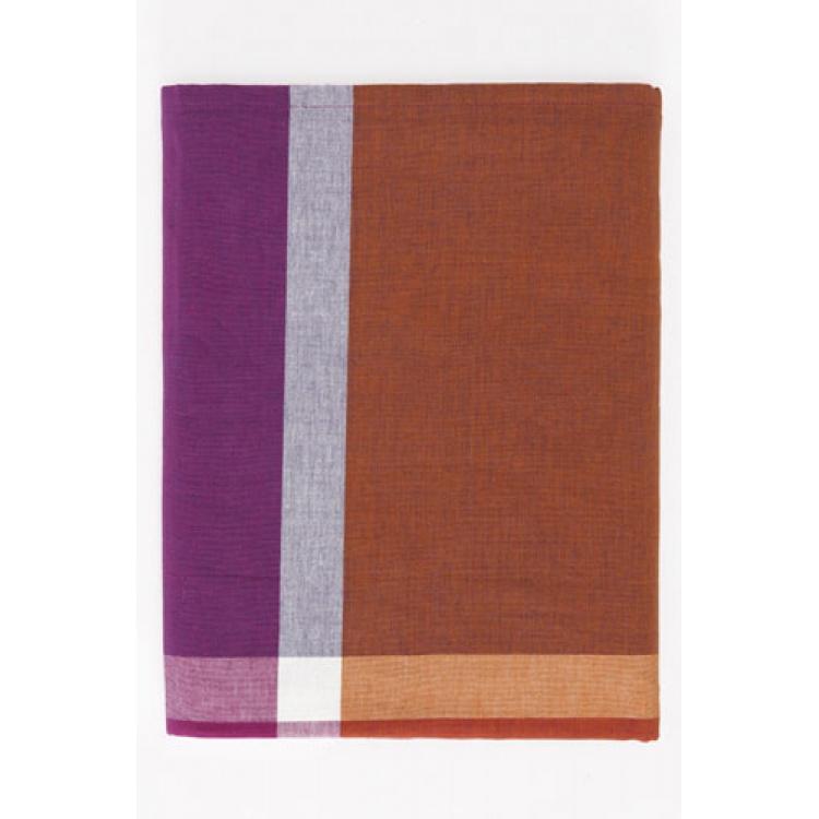 Checks Orange Tablecloth