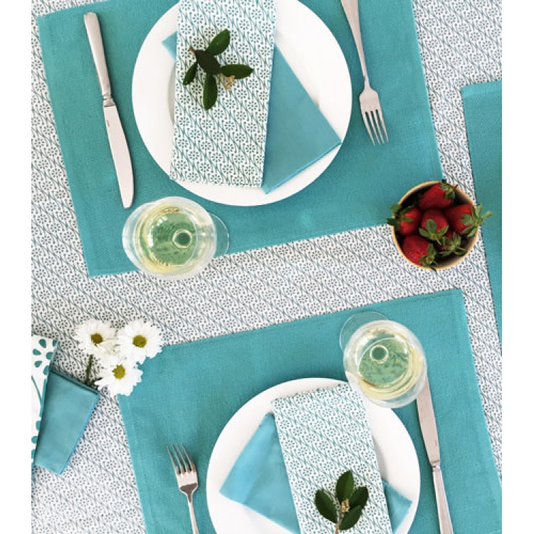 Lagoon Floral Tablecloth